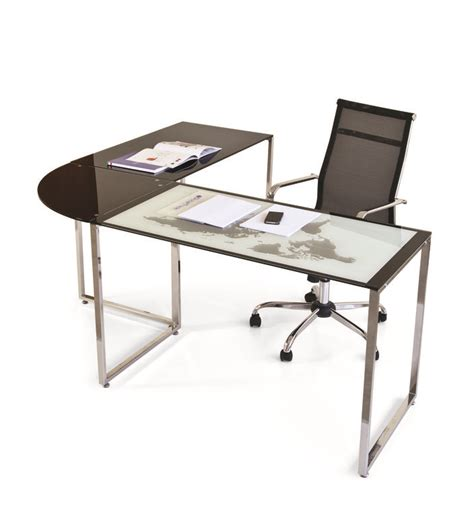 scrivanie angolo scrivania ad angolo in vetro world cm 180x160 scaramuzza