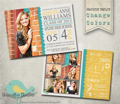 senior templates for photoshop free graduation announcement photoshop template senior