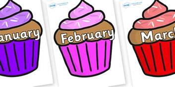 months of the year on cupcakes months of the year months