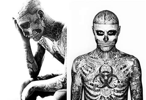 man with full body zombie tattoo zombie boy cerca con google rick genest pinterest