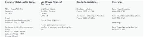 land rover uk customer service jaguar land rover customers contact number 0370 500 0500