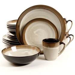 brown set dinnerware sets gibson outlet