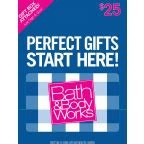 Bath And Body Works Gift Card Balance - bath body works 25 00 gift card 1 00 ct albertsons