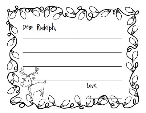 Santa And Rudolph Pictures Cliparts Co Letter To Santa Coloring Page