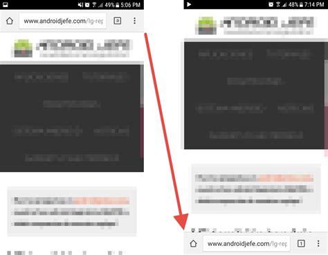 barra superior de android cambiar de lugar la barra de direcciones en google chrome