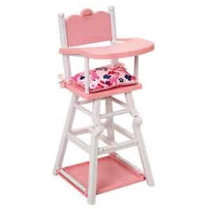 chaise haute pour poupon corolle corolle king jouet
