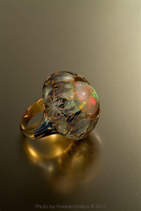 cadenas de oro raras opal enamel and gold ring by ilgiz fazulzyanov anillos