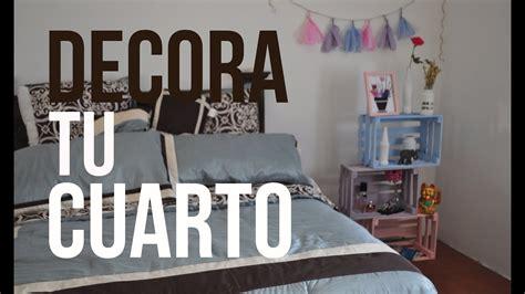 decorar la habitacion barato decora tu cuarto f 225 cil bonito y barato youtube