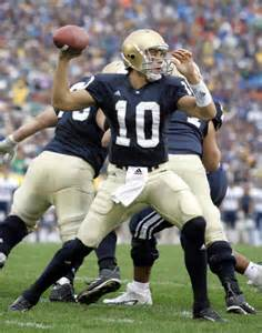 An american football quarterback for the notre dame fighting irish