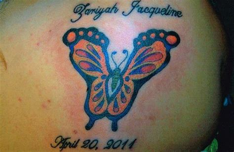 footprint butterfly tattoo baby footprint butterfly tattoos 383 jpg butterfly