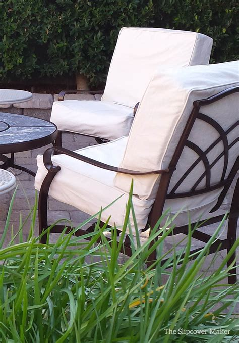 Natural Duck Slipcovers for the Patio   The Slipcover Maker