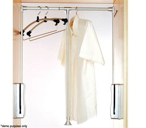 Clothes Rack Storage Solutions by Clothes Rack Lift Storage Solution Suitable For Cabinets