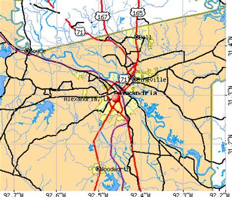 louisiana map alexandria alexandria louisiana la profile population maps real