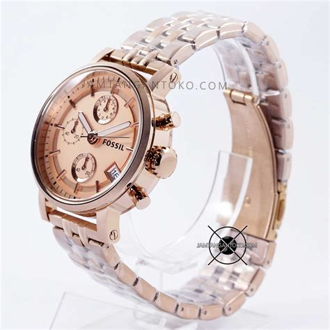 Fossil Rantai Rosegold harga sarap jam tangan fossil boyfriend rantai es3380