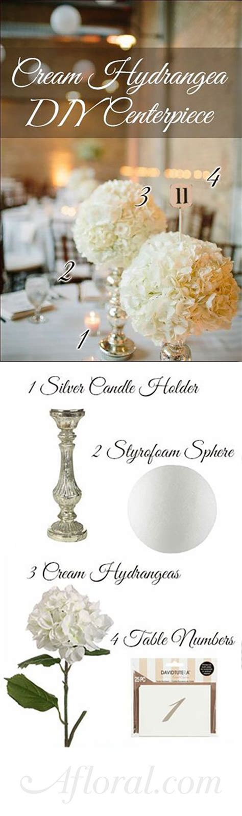DIY Hydrangea Centerpiece ideas for your wedding reception