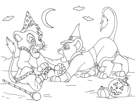 scary lion coloring page print the lion king halloween coloring pages or download