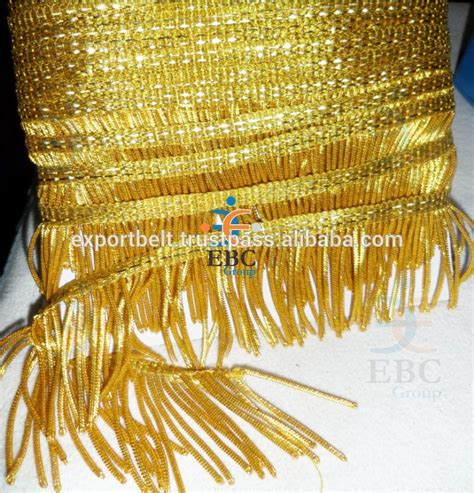 Ip21951 Dress 8 Rumbai gold bullion fringes wholesale sale handmade tassel fringe trimmings buy gold bullion