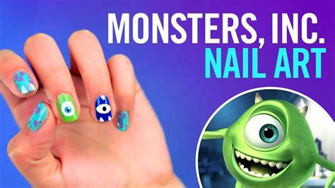 tutorial menggambar monster inc monster s inc nail art tutorial tips by disney style