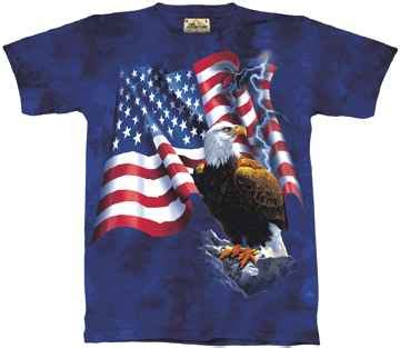 Tshirt Kaos Deer bald eagle shirt