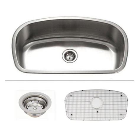32 inch stainless steel sink 32 inch stainless steel undermount curved single bowl