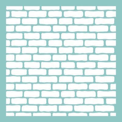 brick templates 12 quot x 12 quot brick wall pattern template stencil for use on