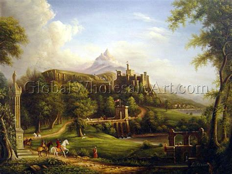 oil paintings global wholesale art thomas cole a departure oil paintings on canvas