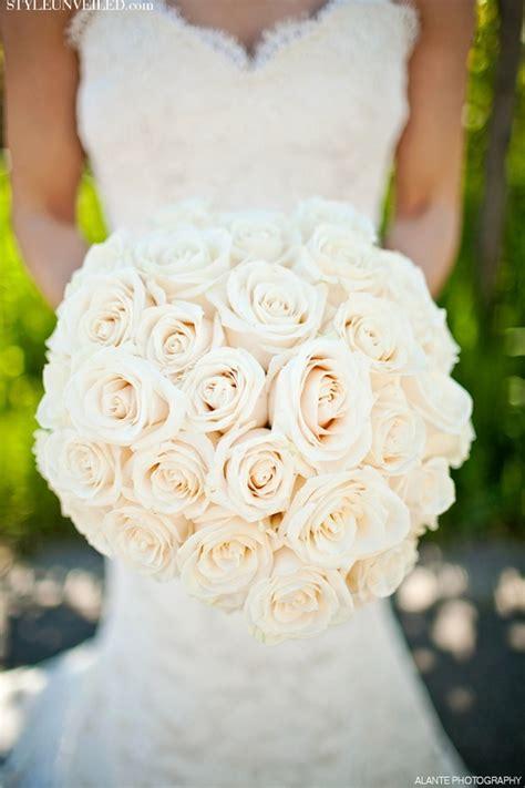 Wedding Bouquet White by All White Bridal Bouquet Wedding