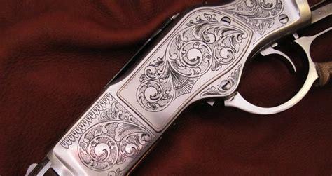 engraved on lever rifle engraving the gun engraver