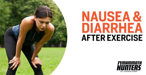 nausea or diarrhea after exercise here s why
