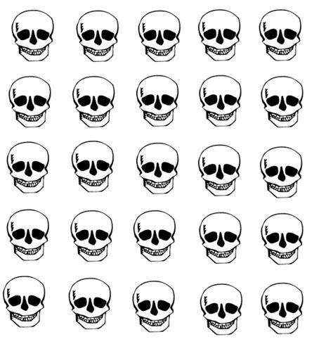 imagenes de calaveras infantiles para imprimir pegatinas de halloween