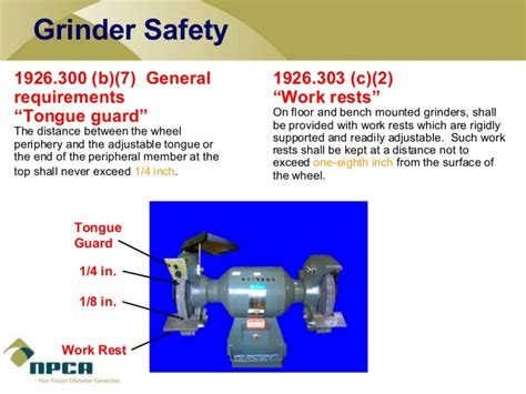 tongue guard for bench grinder power tool safety