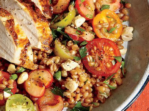 whole grain kamut recipes whole grain kamut and cherry salad recipe myrecipes
