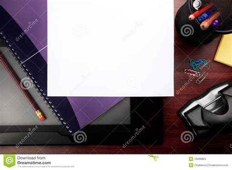 Office Desk Stationery Office Desk With Stationery Stock Photos Image 15039863
