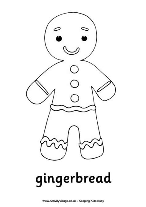 Family Guy Christmas Decorations Gingerbread Man Colouring Page