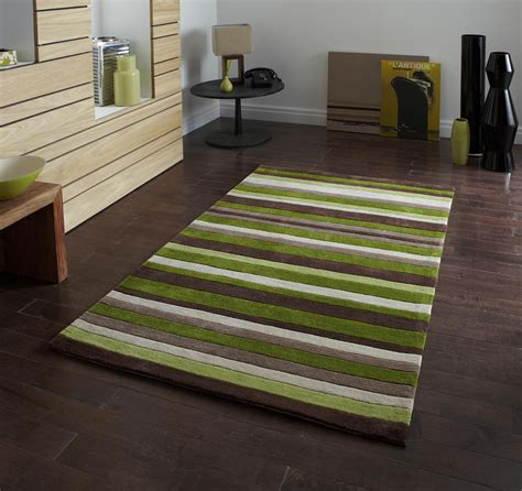 green and brown striped rug green striped 100 acrylic rug large tufted hong kong mat modern design ebay