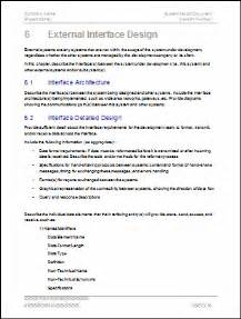 software architecture document template system design document templates requirements