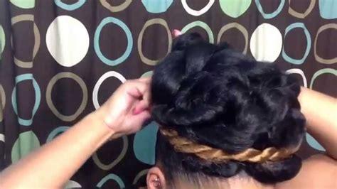 Natural Hairstyle Tutorial: Elegant Goddess Bun Updo Using