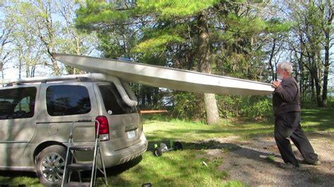 sailboat car car top sunfish sail boat up youtube