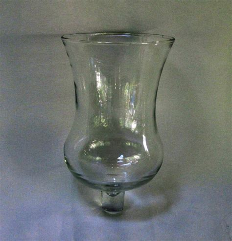 pegged votive holder glass flared trumpet clear
