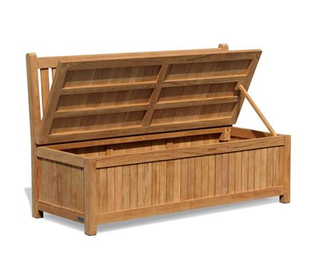 garden storage bench uk windsor 5ft teak outdoor storage bench