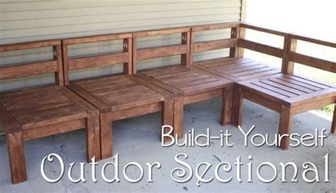 build your own outdoor couch pinterest