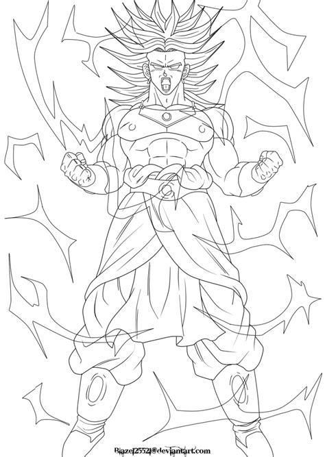 ssj broly coloring pages