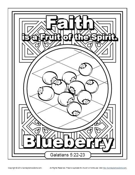 9 11 Coloring Pages Pdf by Fruit Of The Spirit For Faith Coloring Page