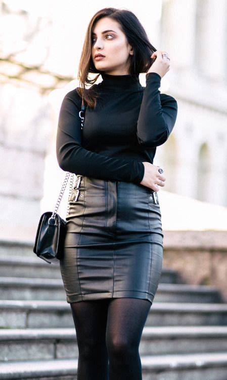women in tight leather skirts and boots hot brunette in tight black leather skirt and black