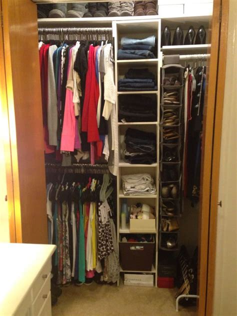 apartment closet organization by using a two rods you your hanging space