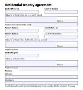 Tenancy Agreement Contract Template by Sle Tenancy Agreement Template 9 Free Documents In