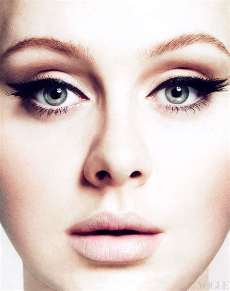 Makeup Adele style within means adele x vogue