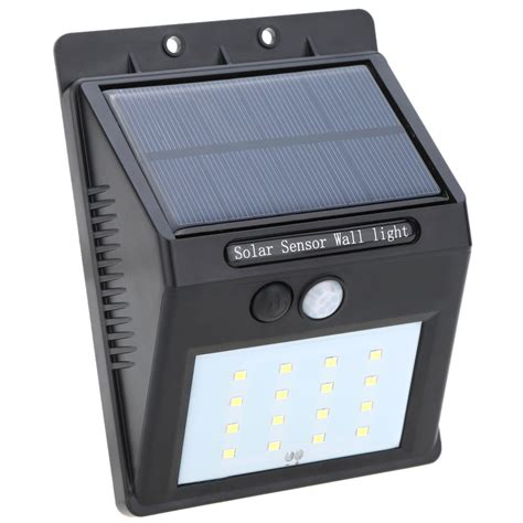 solar powered led pir sensor light