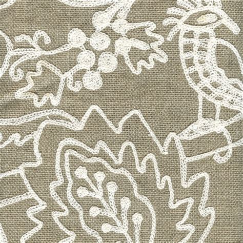 embroidered linen drapery fabric perched linen floral embroidered drapery fabric 36702