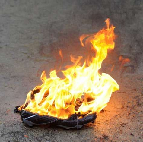 burning high heels cardinals hold annual quot burning of the shoes quot ceremony